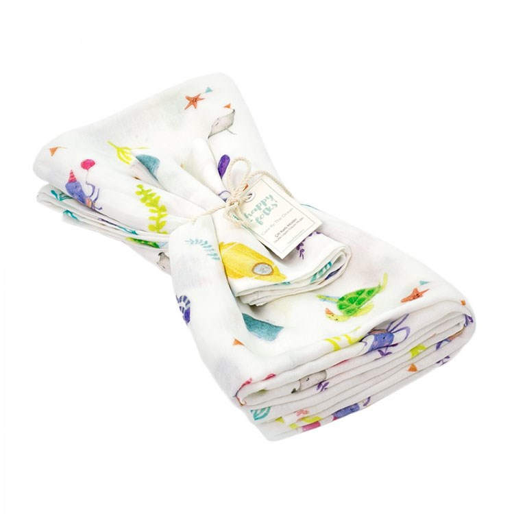a baby diaper with a flower pattern