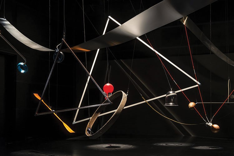 a group of lights from a string