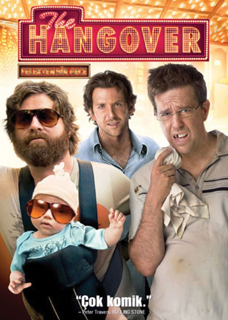 Ed Helms, Zach Galifianakis, Bradley Cooper et al. are posing for a picture