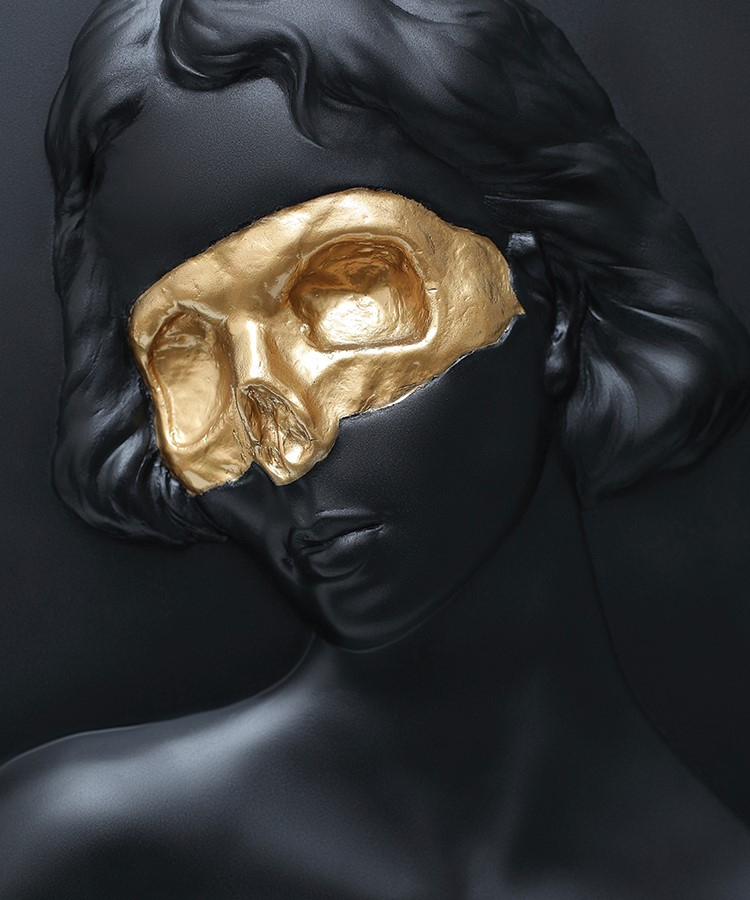 a mask on a person