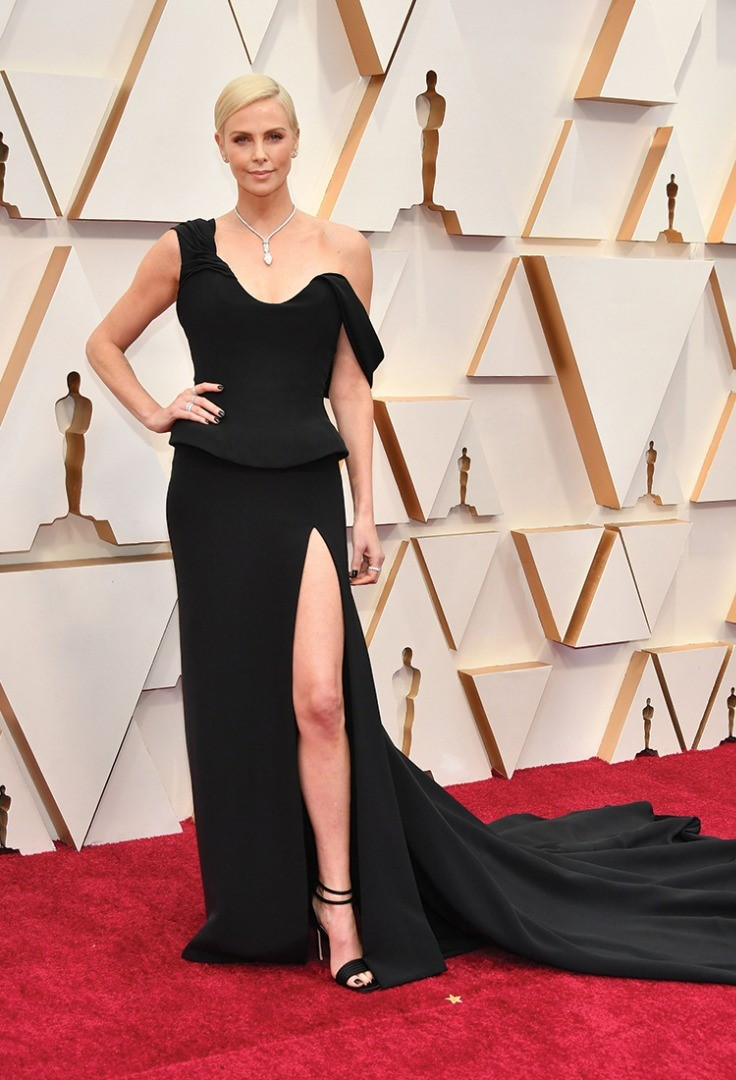 Charlize Theron in a black dress