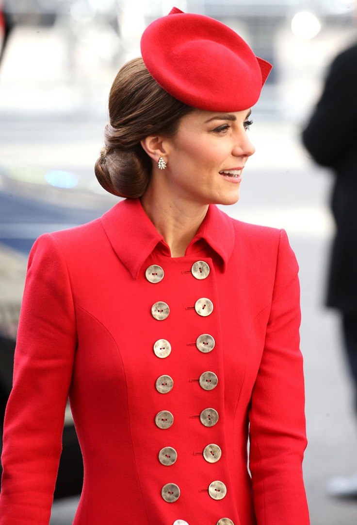 a person in a red coat