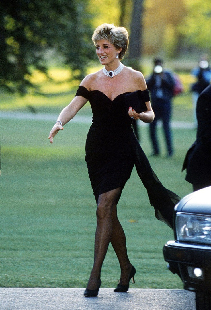 Diana, Princess of Wales in a black dress