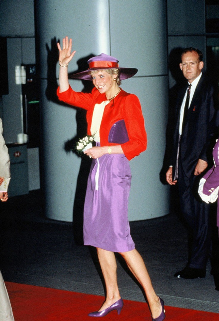 Diana, Princess of Wales in a pink dress