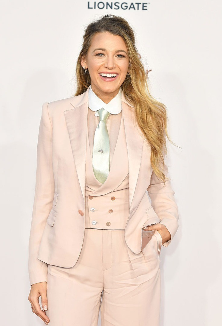 Blake Lively in a suit