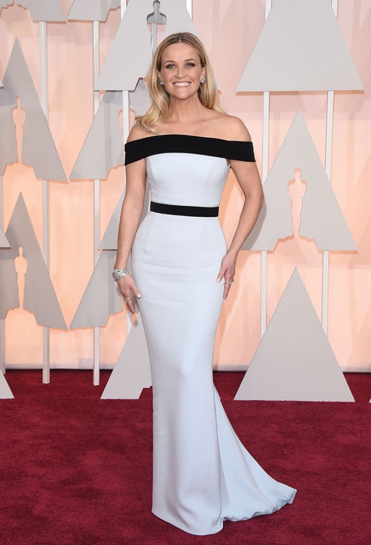 Reese Witherspoon in a white dress