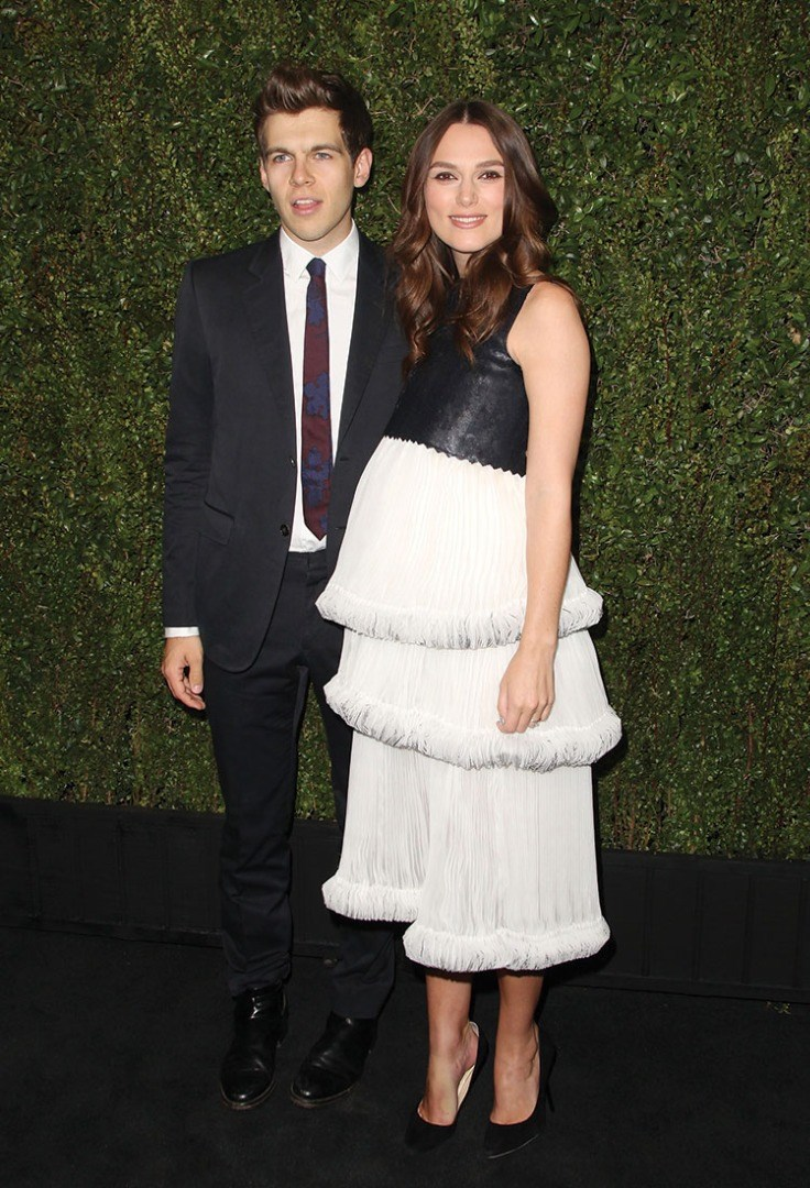 James Righton, Keira Knightley are posing for a picture