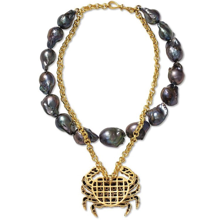 a gold and silver necklace