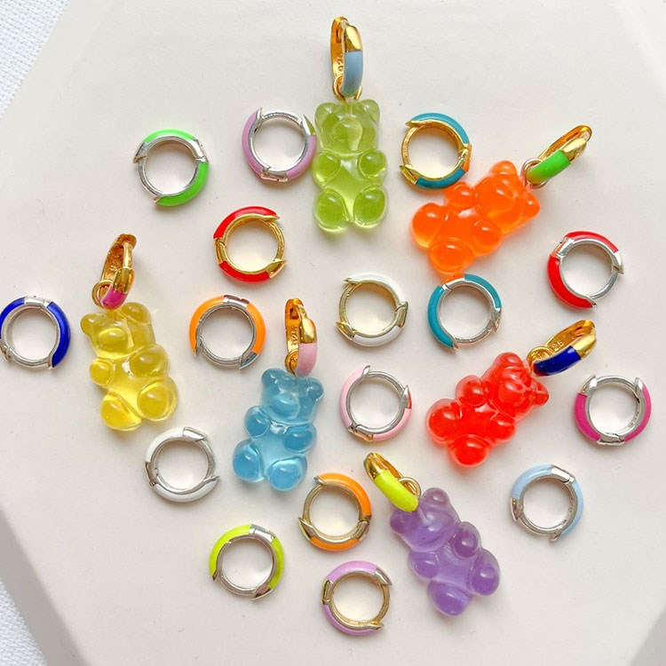 a group of colorful necklaces