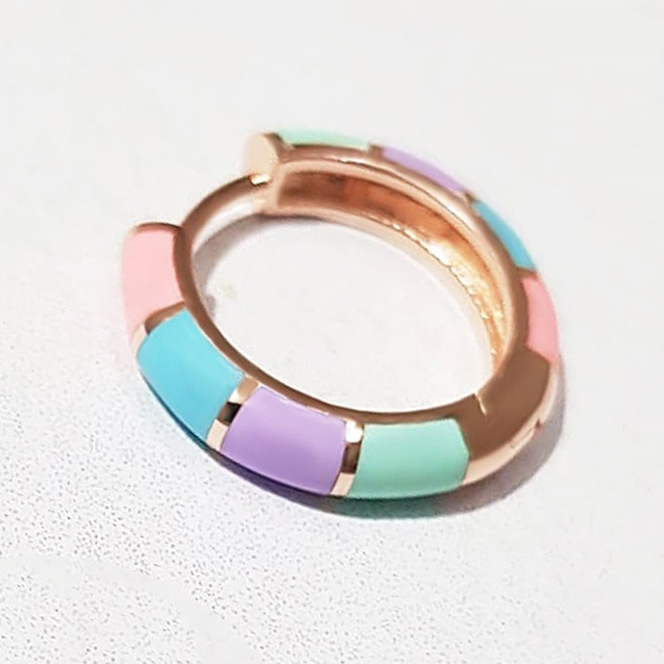 a ring on a white surface