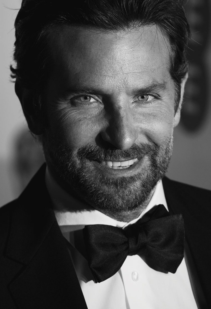 Bradley Cooper with a beard and mustache