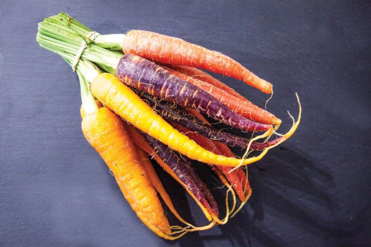 a group of carrots