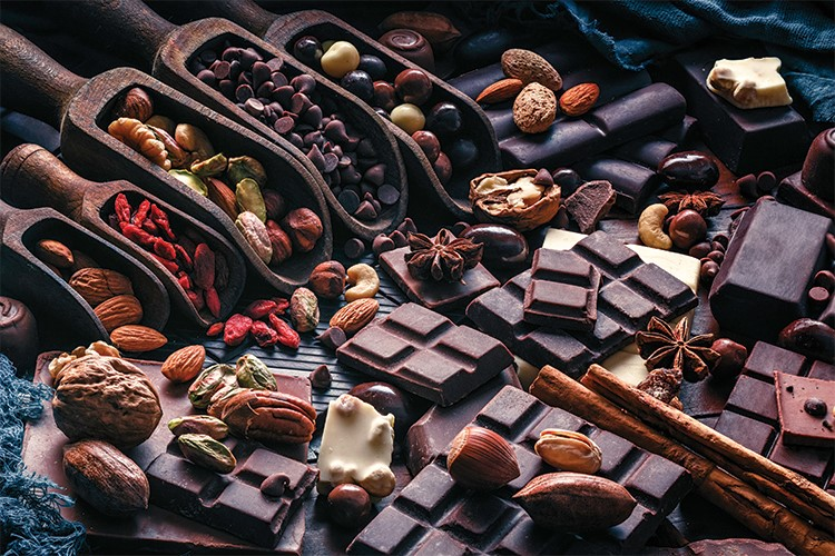 a group of chocolates