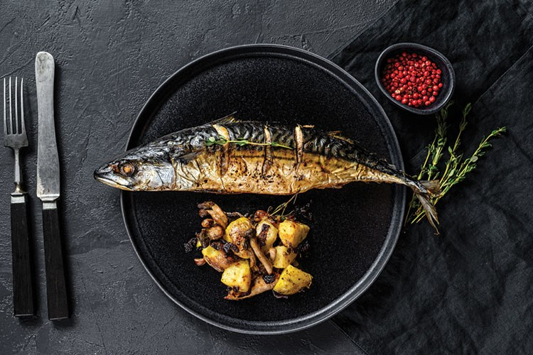 a fish on a grill
