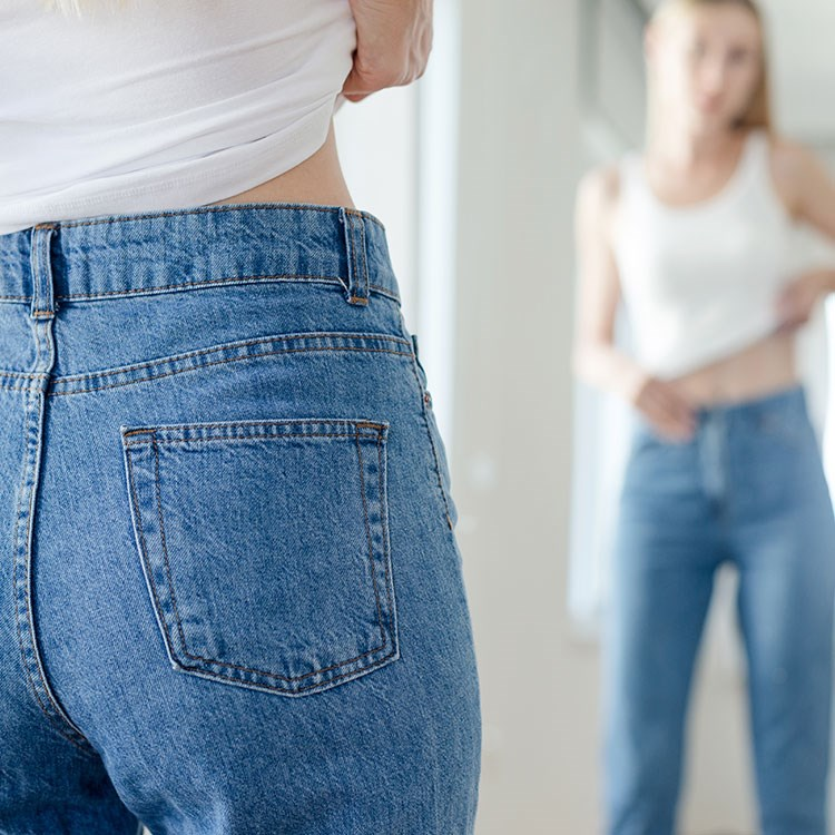 a person wearing jeans