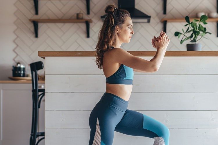 a woman in a gym