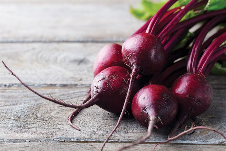 a group of red beets