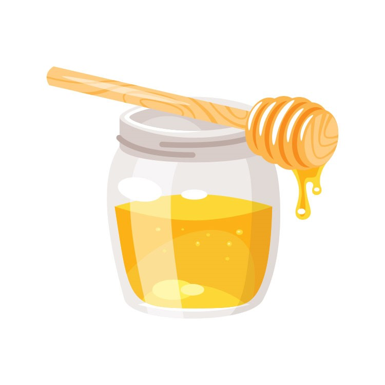 a yellow measuring cup with a wooden handle