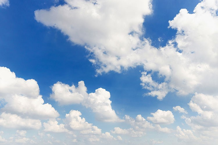 a blue sky with white clouds