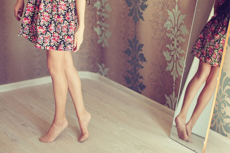 a person's legs and feet