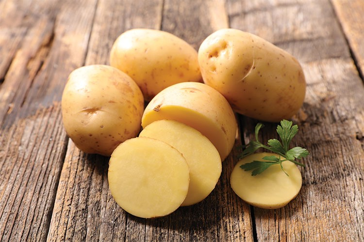 a group of potatoes