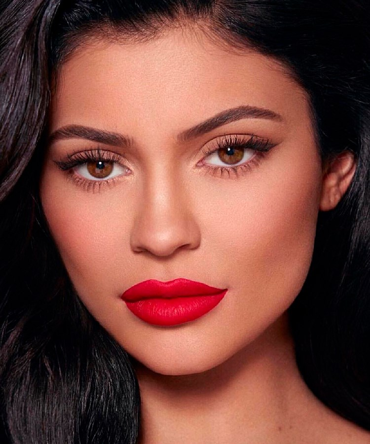 Kylie Jenner with red lipstick