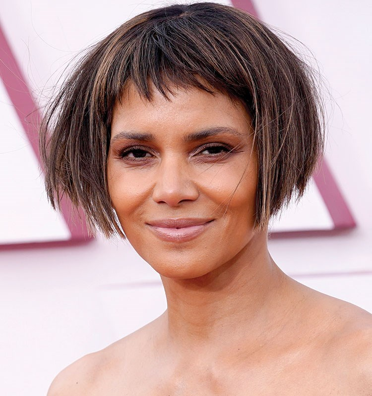 Halle Berry with brown hair