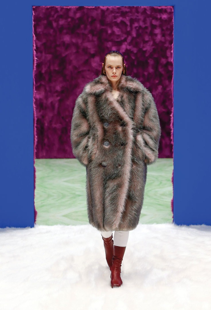 a person wearing a large coat