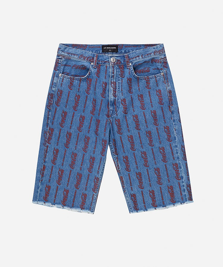 a pair of blue shorts