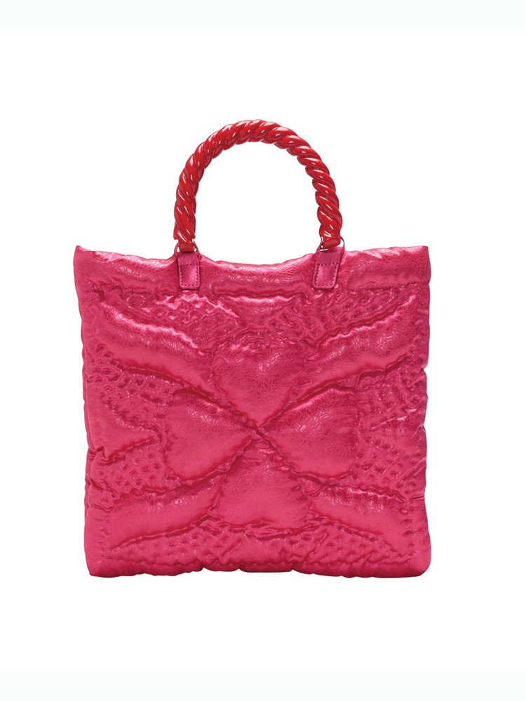 a pink garment with a handle