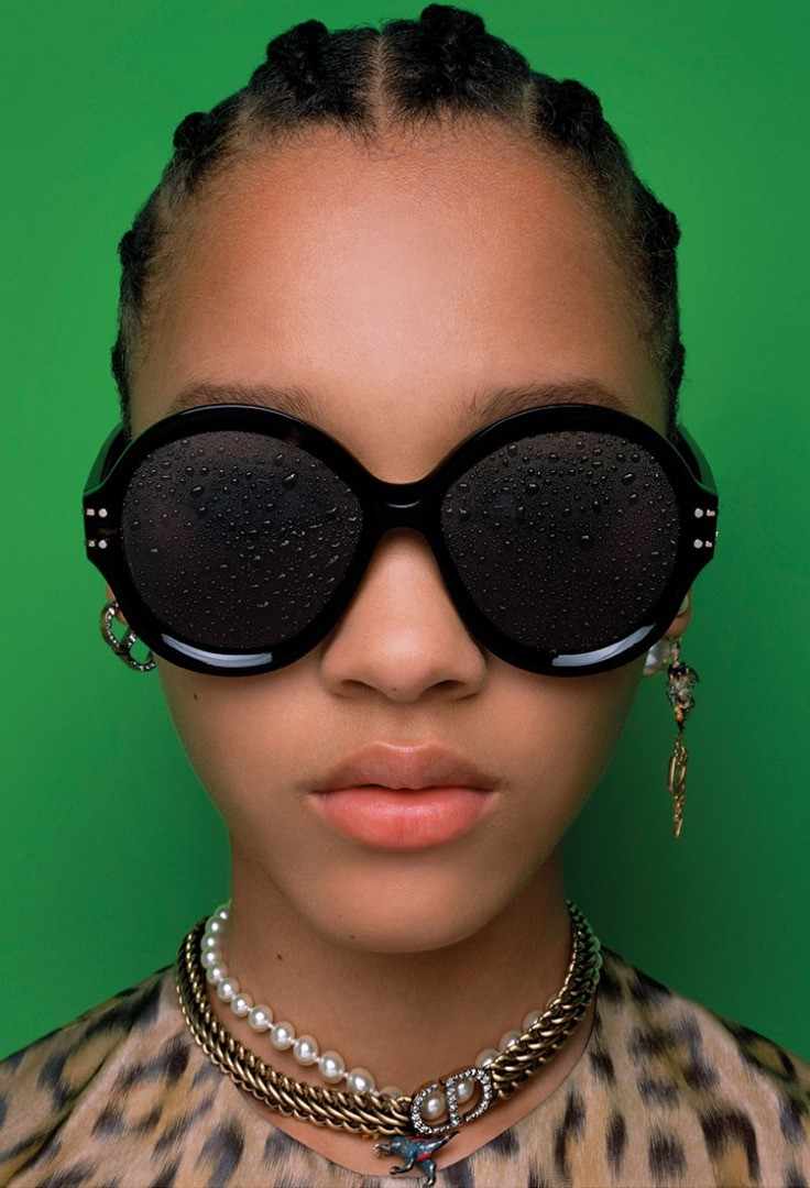 a person wearing sunglasses