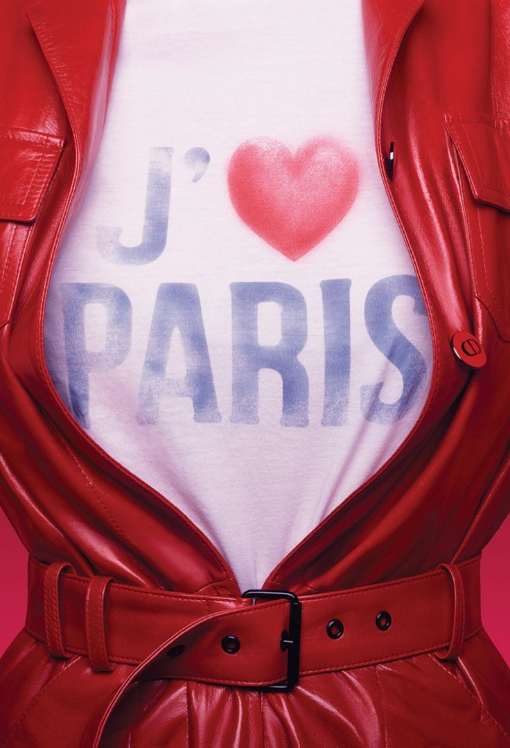 a red jacket with a heart on it