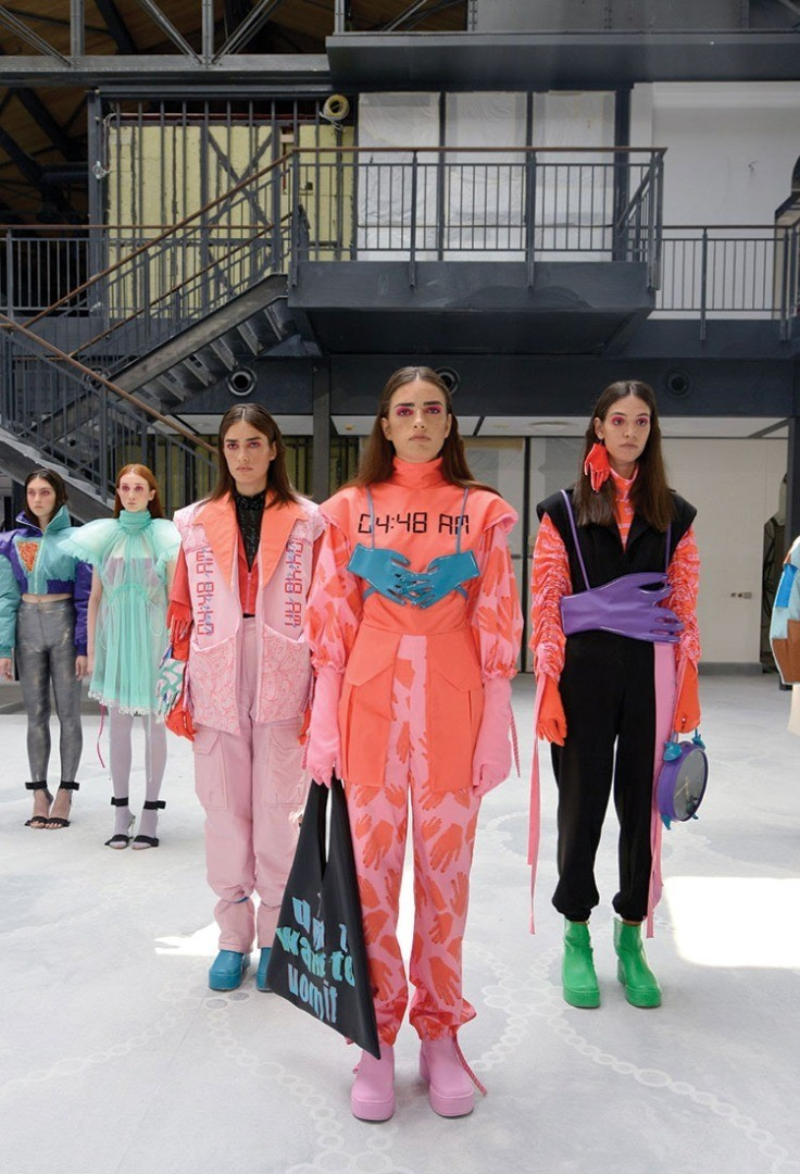 a group of women in clothing
