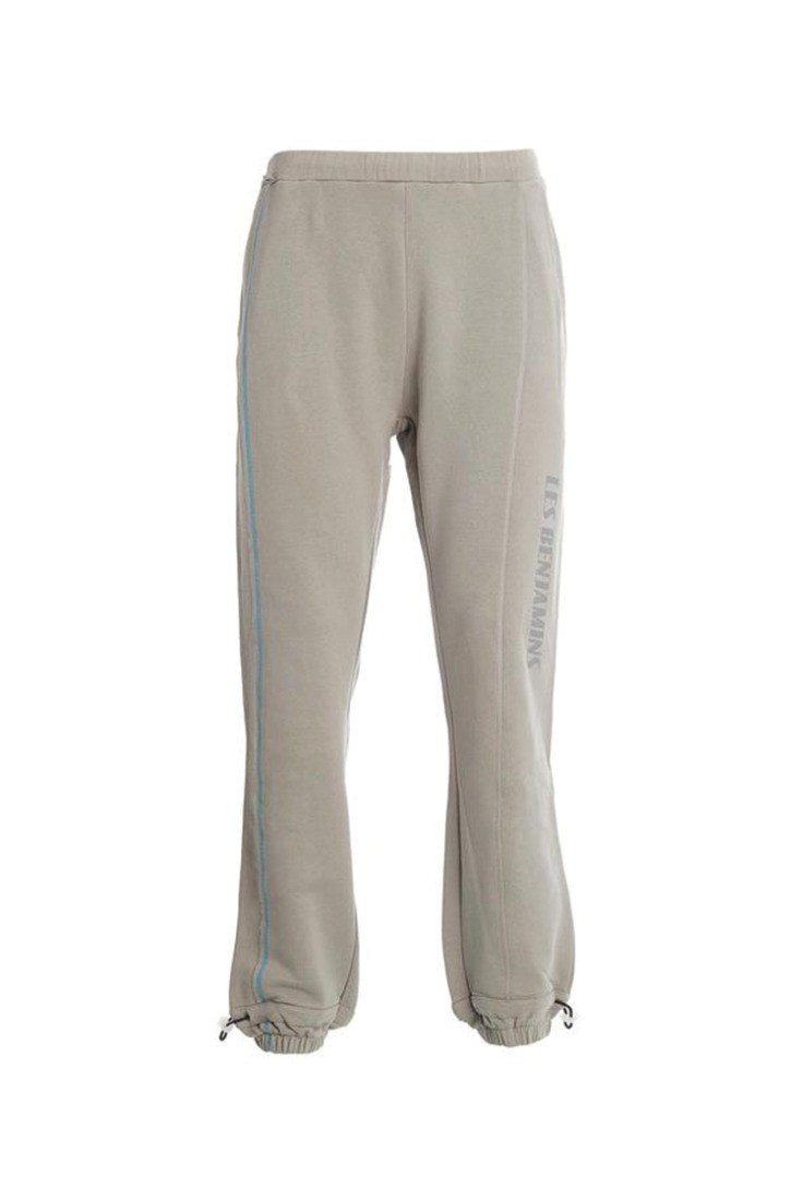 a grey and white pants