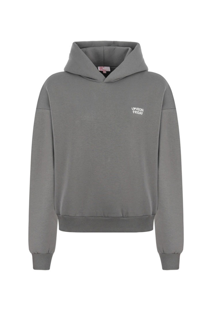 a grey sweatshirt with a white background