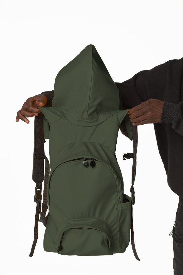 a person carrying a backpack