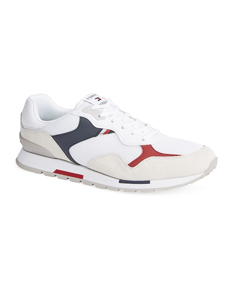 a white and red shoe
