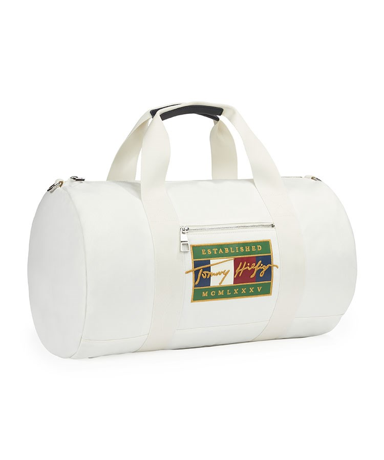 a white and yellow bag