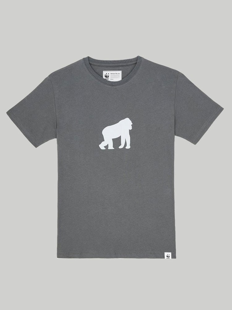 a black t-shirt with a white horse on it
