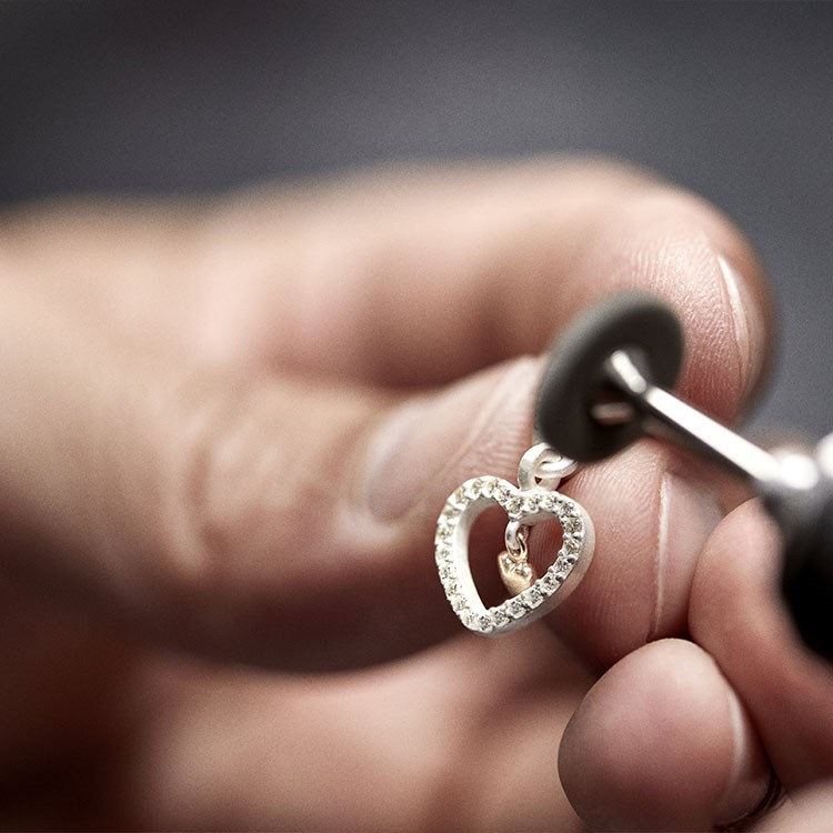 a person holding a ring