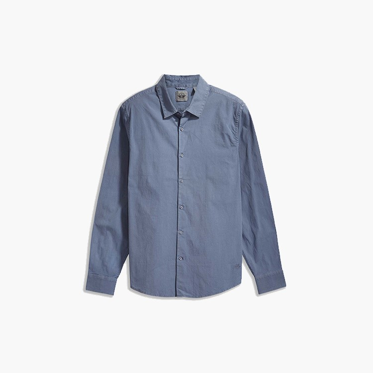 a blue shirt with a white background