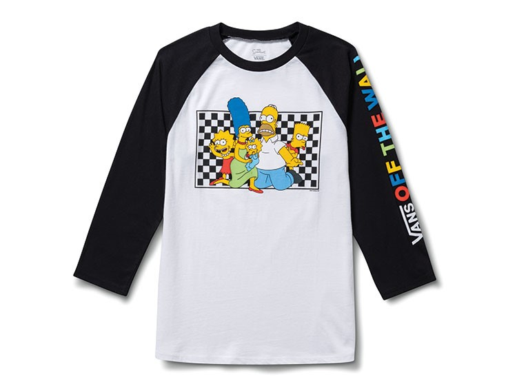 a black and white shirt with a cartoon character on it