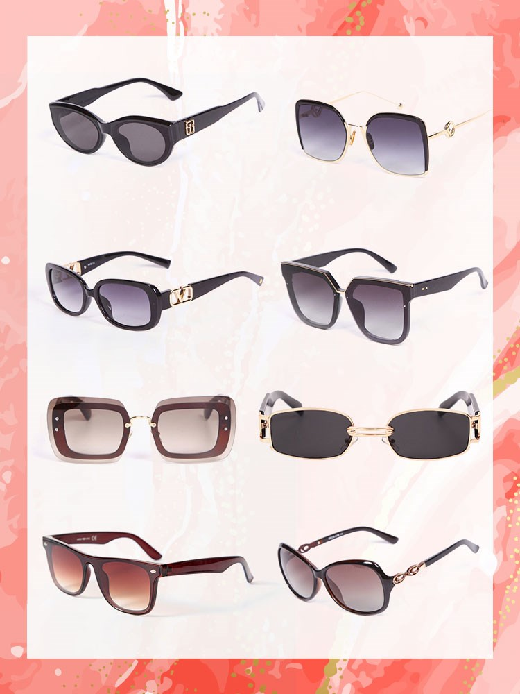 a group of pairs of glasses