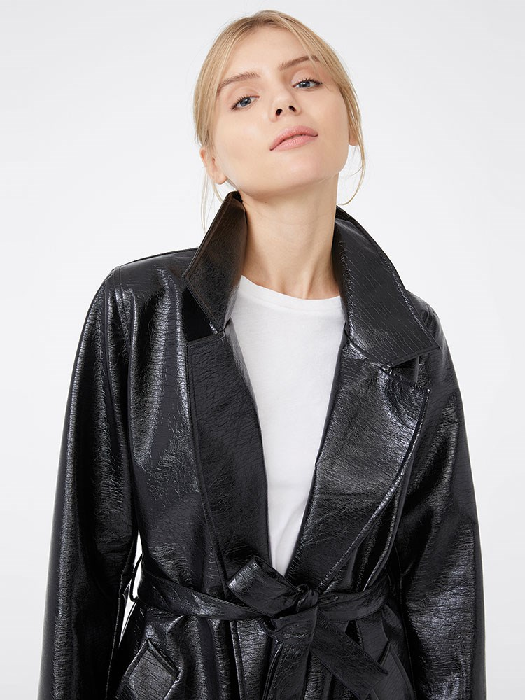 a person in a black jacket