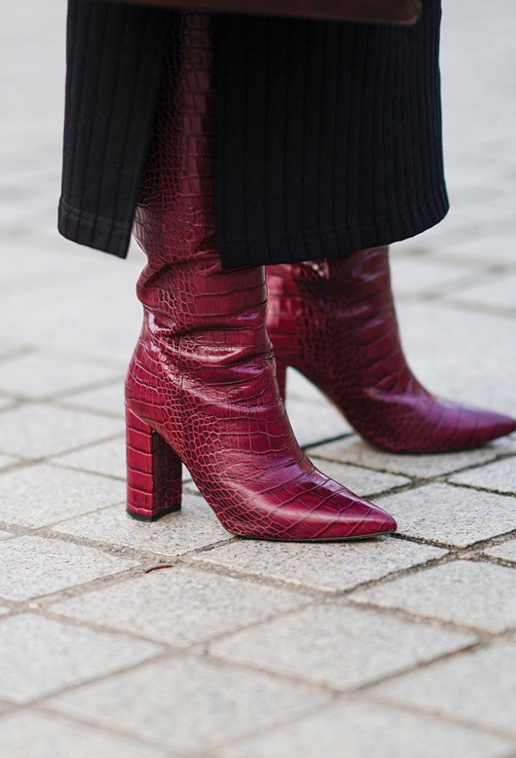 a person wearing boots