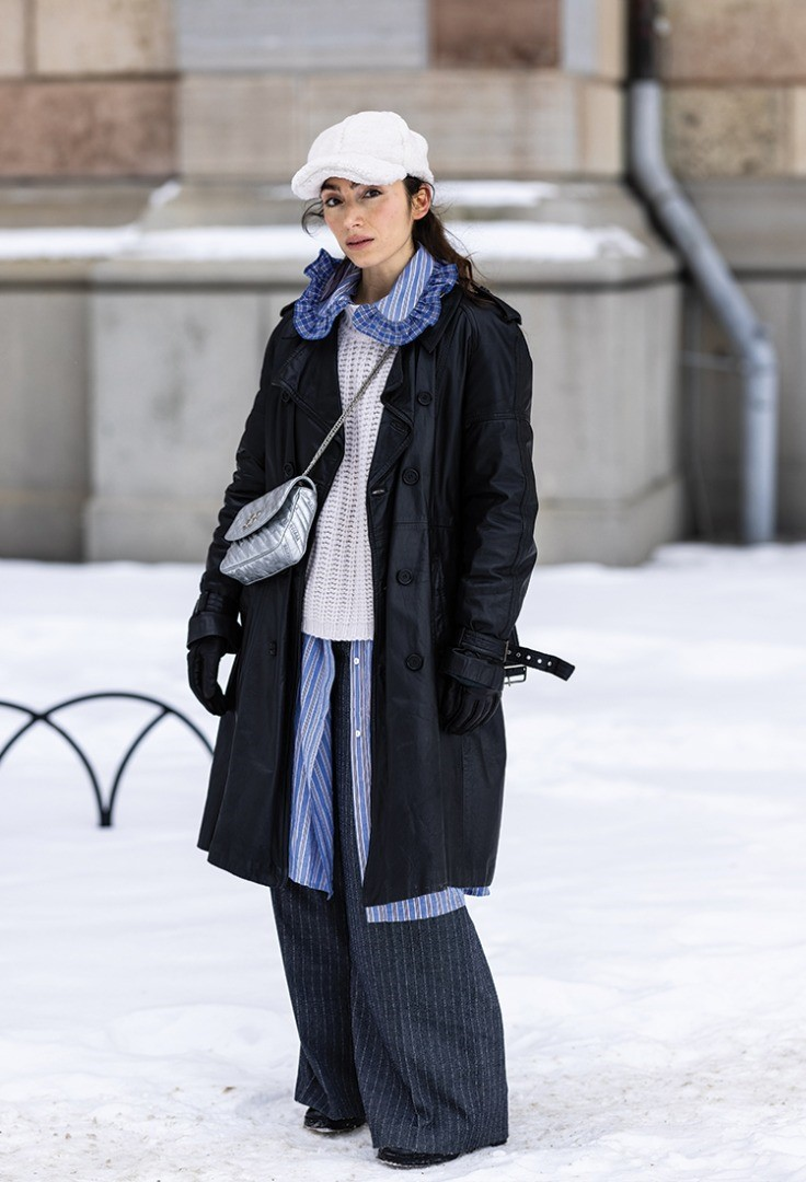 a person in a coat and hat