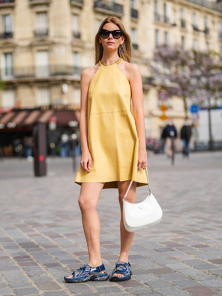 a person in a yellow dress