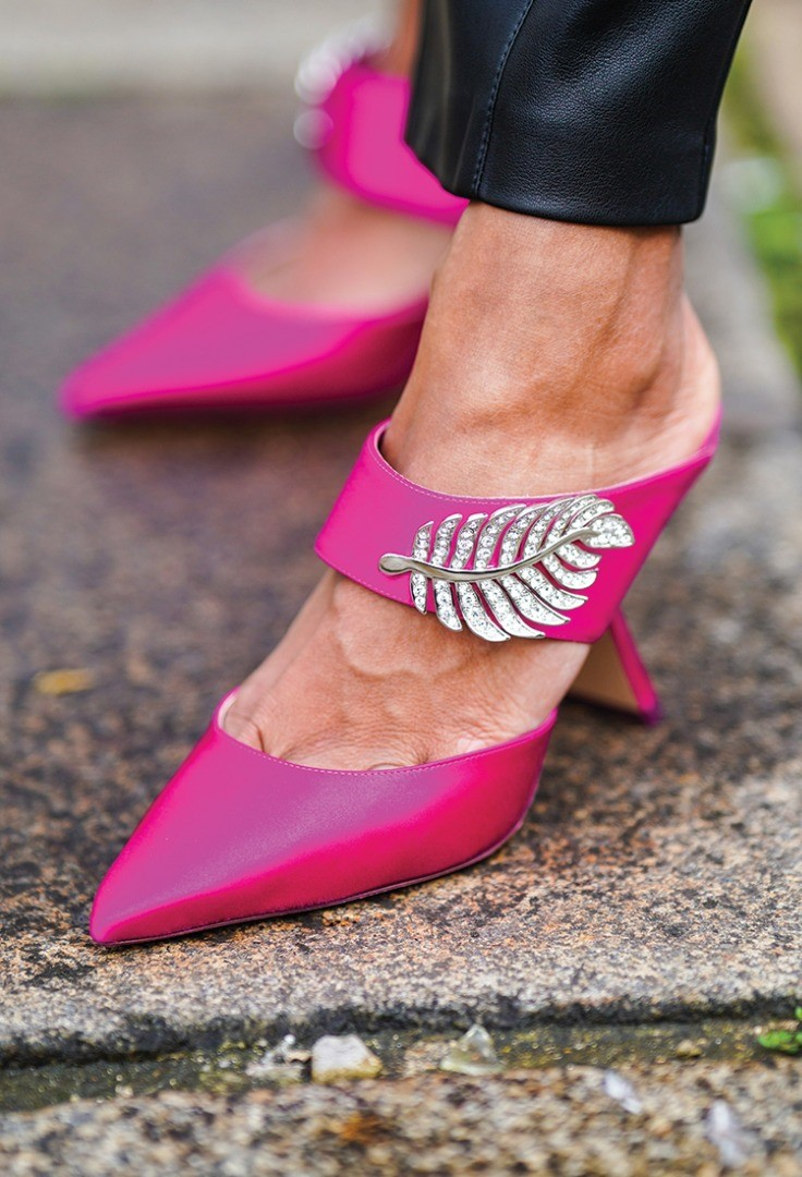 a pair of pink shoes