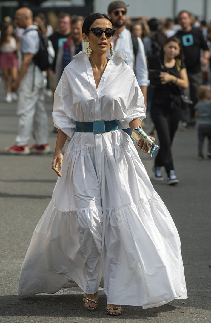 a person in a white dress
