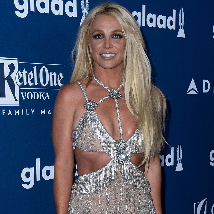 Britney Spears in a white dress